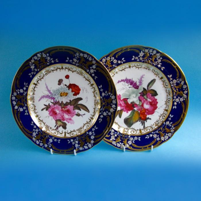 Sold – Pair of Coalport plates