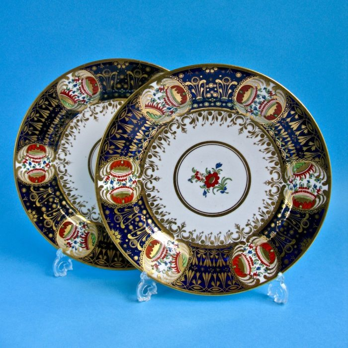 Item No. 1929 – Pair Chamberlain Worcester plates