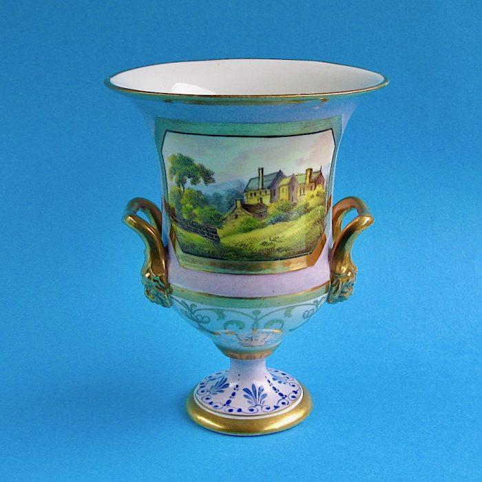 Item No. 1928 – English porcelain vase, possibly Ridgway