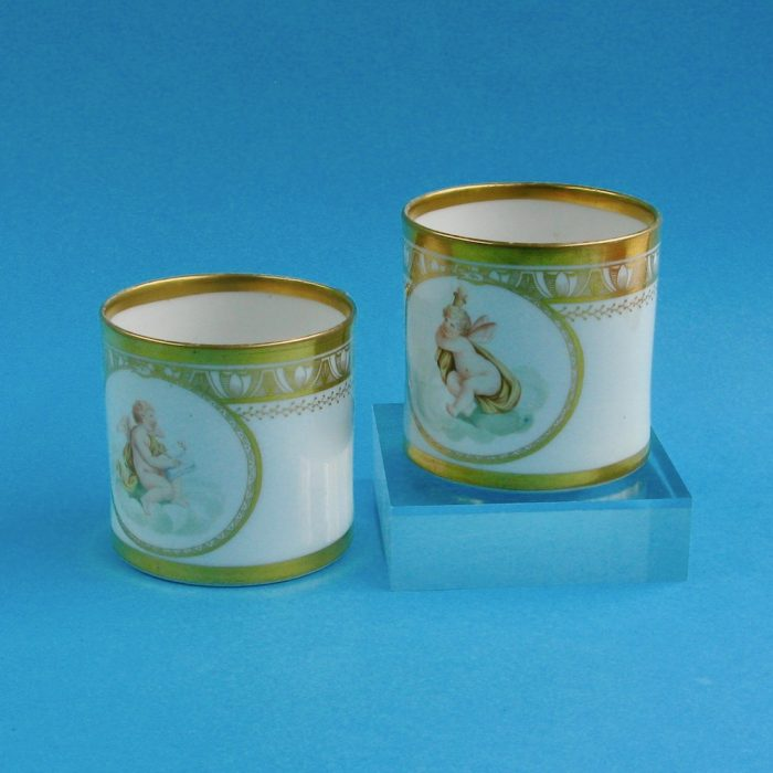 SOLD – Pair Herculaneum coffee cans