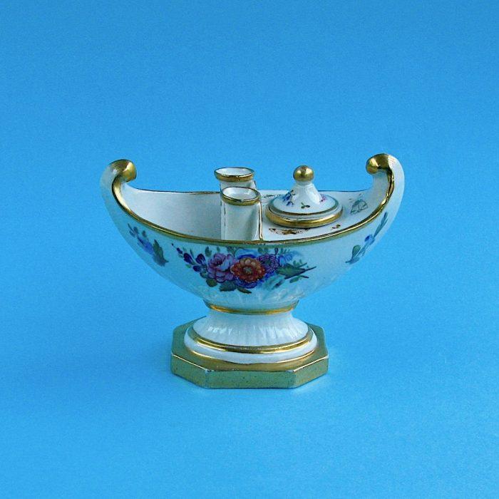 Item No. 1879 – English Porcelain Inkwell