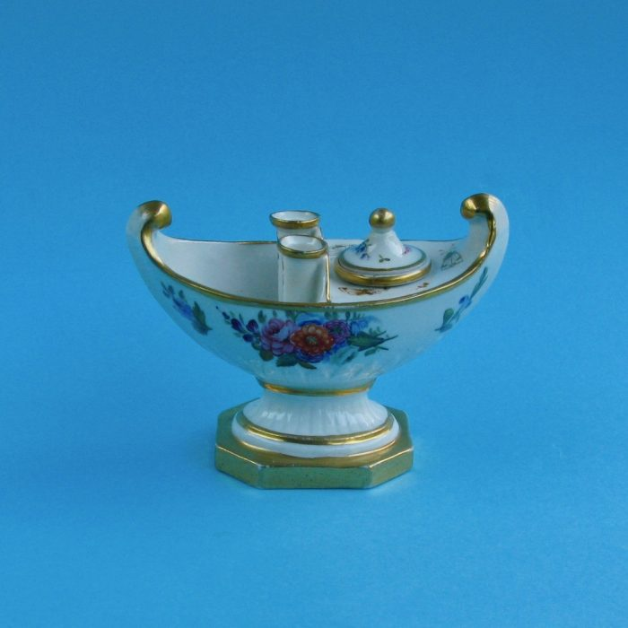 Item No. 1879 – English Porcelain Inkwell