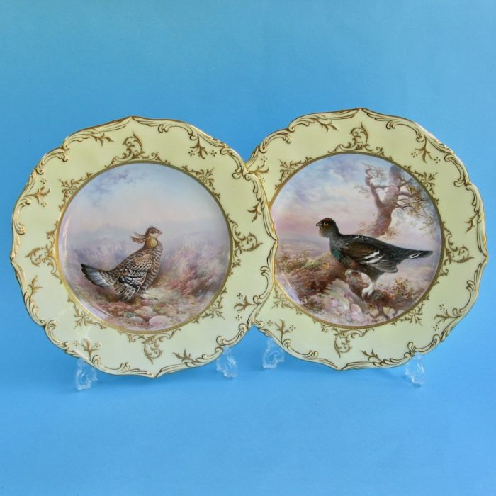 Item No. F184 – Pair Brown Westhead Moore plates