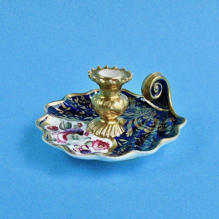 Item No. 1865 – English porcelain chamberstick
