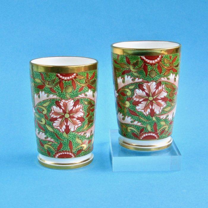 Item No. 2107 – Pair Derby (King Street) spill vases
