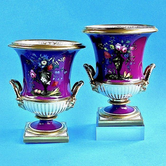 Item No. 1797 – Pair Flight Barr and Barr vases